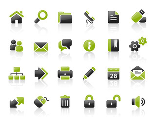 Green Black Website Icons