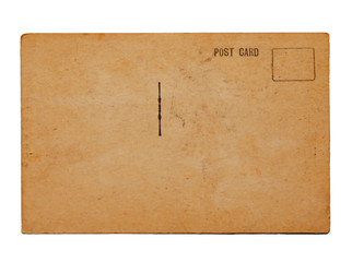 single blank antique postcard