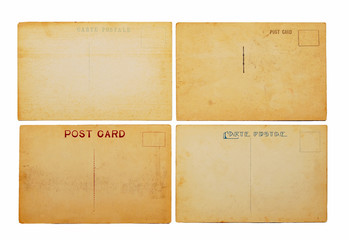 four old postcards
