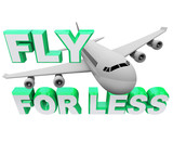 Fly for Less - Save When Booking Air Flight Travel poster