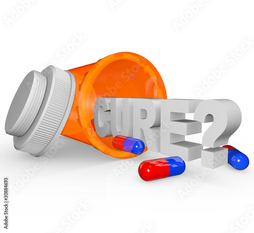 Prescription Medicine Bottle - Cure Word