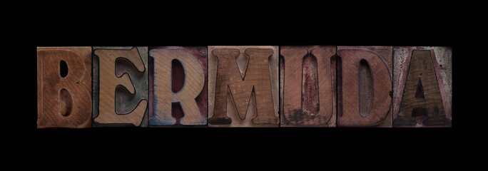 Bermuda in old wood type