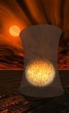 coeur de centrale nucléaire en fusion poster
