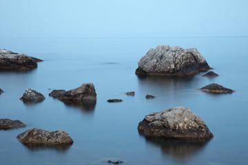 Tranquill evening at sea coast
