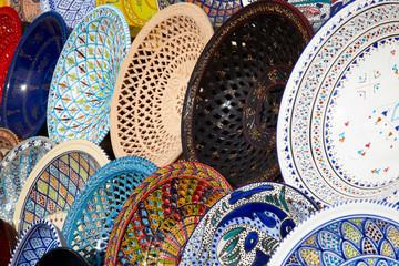 Traditional Tunisian Pottery on the Market