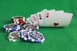 Poker - Chips Spielkarten Ass 25