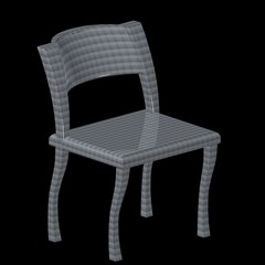 La sedia in metallo a scaglie - Metallic chair
