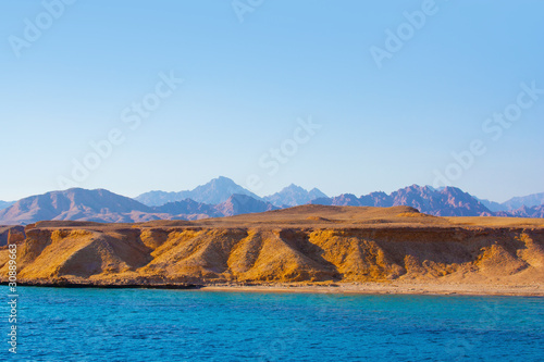 Sea and mountains  in egypt