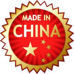 Rubber stamp - Made in China, vector illustration eps 10