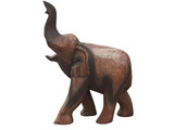 handcraft wood elephant from Thailand poster