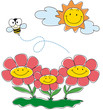 sunny garden with bee