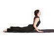 yoga excercising bhujangasan
