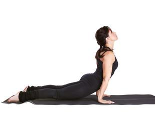 yoga excercising urdhva mukha shvanasana