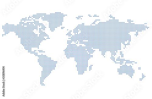 Staande foto Wereldkaart Map of the world