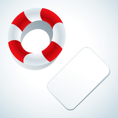 Lifebuoy and business card