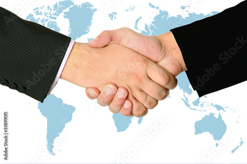 handshake of two businessmans agreement