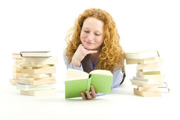 Frau mit Büchern