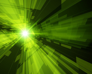 Abstract virtual space with screen vector background