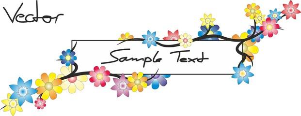 Textbox mit Blumen - Vektor