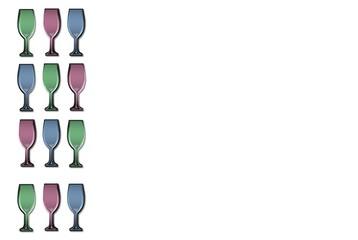 Weinkarte  Getränkekarte Weingäser Freisteller