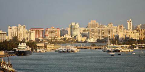 san juan skyline and harbor