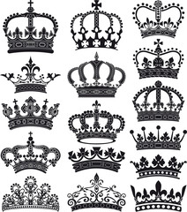 crown and coronet silhouettes
