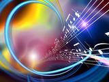 Fototapety Dynamic Music Abstract