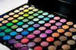 Makeup set. Professional multicolor eyeshadow palette