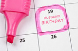 Husband birthday mark