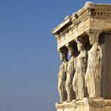 Caryatides, erechteion temple  Acropolis, room for type poster