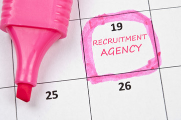 Recruitment agency mark