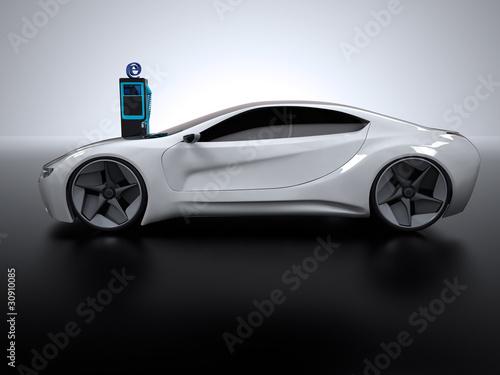 hybrid Sportwagen Ladestation 3D