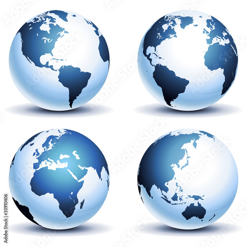 Globe Set (Light Blue)