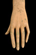weathered doll hand