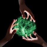Green magical sphere
