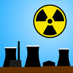 Nuclear power station, illustration