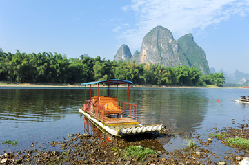 Beautiful Karst mountain landscape in Yangshuo Guilin