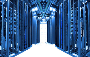 servers in a technology data center .