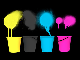 CMYK Spray Color Bucket