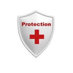 Red Protected Shield