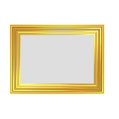 Striped Golden Frame