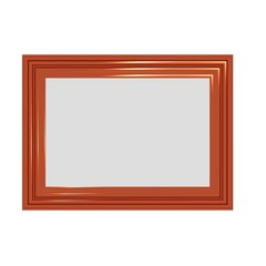 Shiny Red Photo Frame