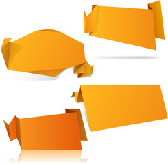 Origami orange wallpapers.