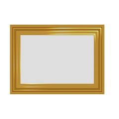 Golden Rough Photo Frame