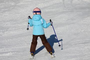 piccola sciatrice