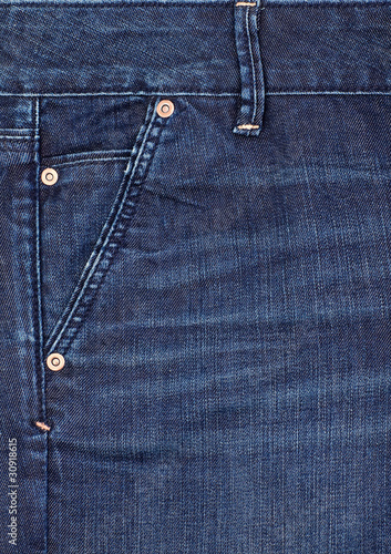 Close-up blue denim