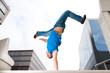 Jumping young man