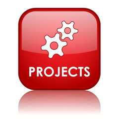 PROJECTS Web Button (management work in progress about us red)