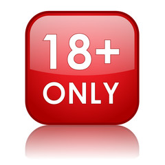 """18+ ONLY"" Web Button (parental advisory explicit content)"