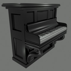 Piano Side View